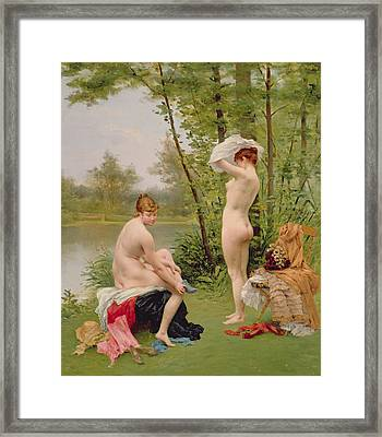 The Bathers Framed Print by Jules Scalbert