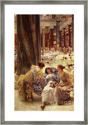 The Baths Of Caracalla Framed Print by Sir Lawrence Alma-Tadema