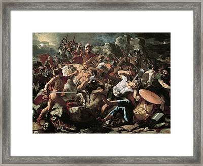 The Battle Framed Print by Nicolas Poussin