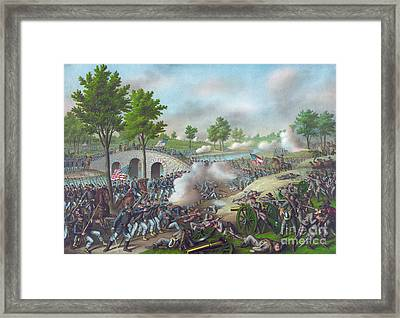 The Battle Of Antietam Framed Print by American School