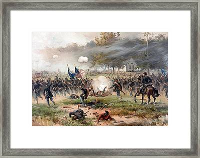 The Battle Of Antietam Framed Print by War Is Hell Store
