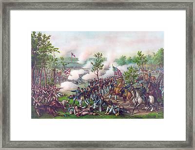 The Battle Of Atlanta, Framed Print by American School