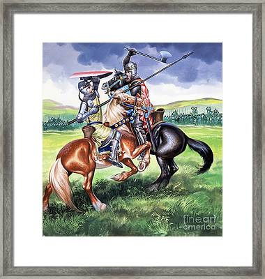 The Battle Of Bannockburn Framed Print by Ron Embleton
