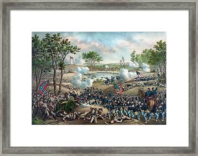The Battle Of Cold Harbor Framed Print by War Is Hell Store