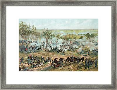 The Battle Of Gettysburg Framed Print by Paul Dominique Philippoteaux