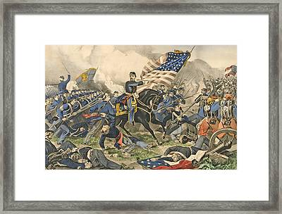 The Battle Of Williamsburg, Va Framed Print by Currier and Ives