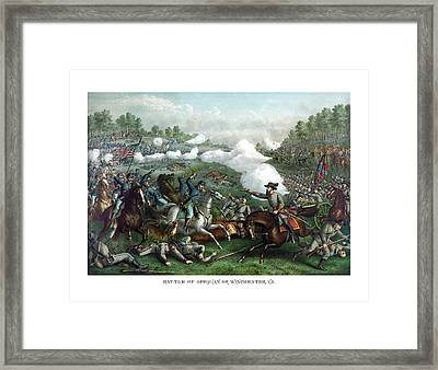 The Battle Of Winchester Framed Print by War Is Hell Store