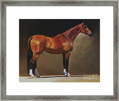 The Bay Hunter Framed Print by Janet  Crawford