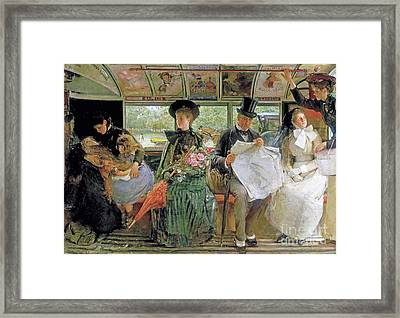 The Baywater Omnibus Framed Print by George William