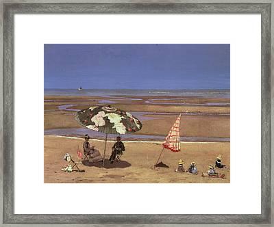 The Beach Framed Print by Etienne Moreau Nelaton