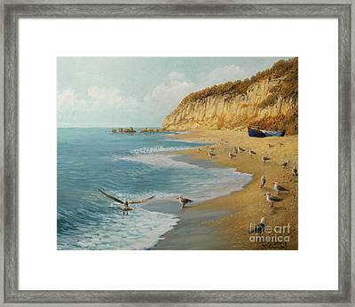 The Beach Framed Print by Kiril Stanchev