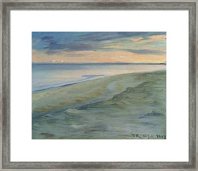 The Beach, Skagen Framed Print by Peder Severin Kroyer