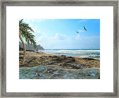 The Beach Framed Print by Tony Rodriguez