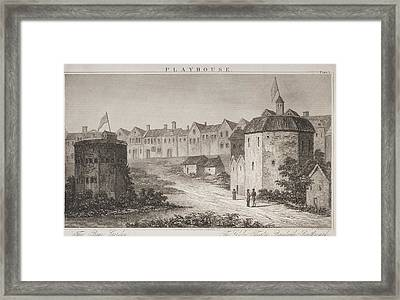 The Bear Garden And The Globe Theatre Framed Print by Vintage Design Pics