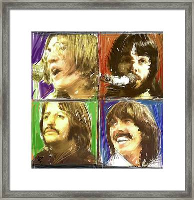 The Beatles - Let It Be Framed Print by Russell Pierce