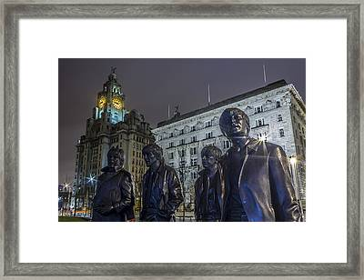 The Beatles Back Home Framed Print by Paul Madden