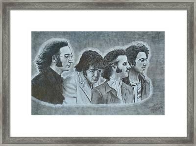 The Beatles  Framed Print by Jessica Hallberg