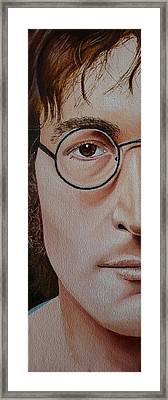 The Beatles John Lennon Framed Print by Vic Ritchey