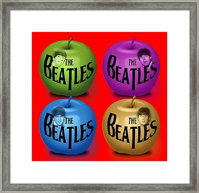 The Beatles Framed Print by Mal Bray