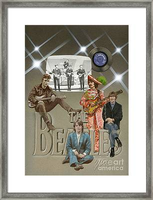 The Beatles Framed Print by Marshall Robinson