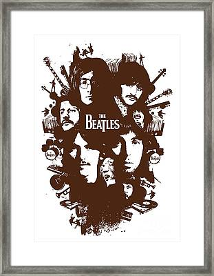 The Beatles No.15 Framed Print by Caio Caldas