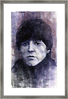 The Beatles Paul Mccartney Framed Print by Yuriy  Shevchuk
