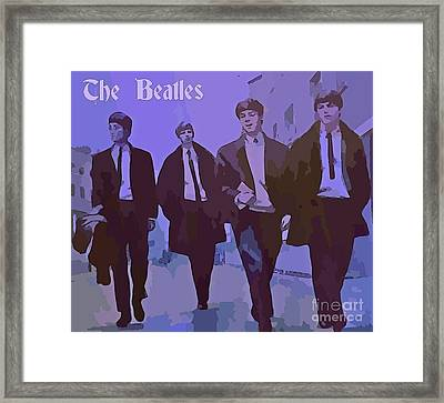 The Beatles Poster Framed Print by John Malone