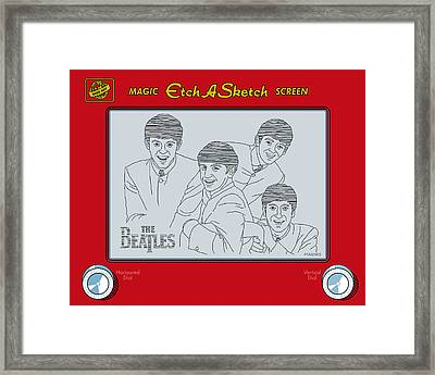 The Beatles Framed Print by Ron Magnes