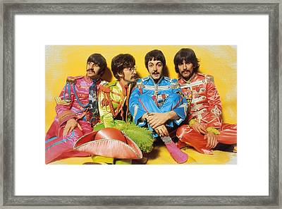 The Beatles Sgt. Pepper's Lonely Hearts Club Band Painting 1967 Color Framed Print by Tony Rubino