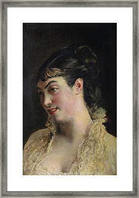 The Beautiful Woman Framed Print by John Boldini