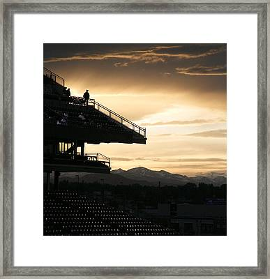 The Beauty Of Baseball In Colorado Framed Print by Marilyn Hunt