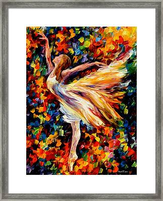 The Beauty Of Dance Framed Print by Leonid Afremov