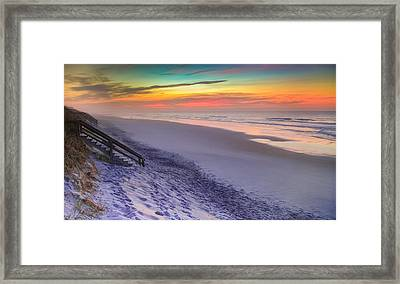 The Beauty Of Topsail Island Framed Print by Karen Wiles