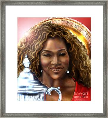 The Beauty Victory That Is Serena Framed Print by Reggie Duffie