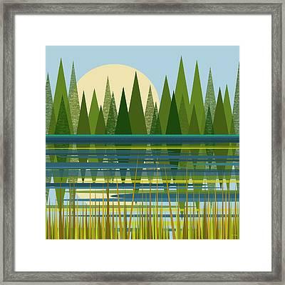 The Beaver Pond Framed Print by Val Arie