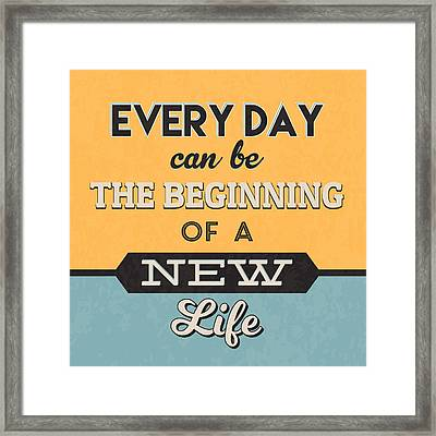 The Beginning Of A New Life Framed Print by Naxart Studio