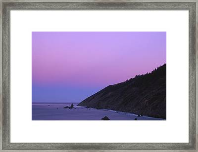 The Beginning Of The Lost Coast Framed Print by Soli Deo Gloria Wilderness And Wildlife Photography