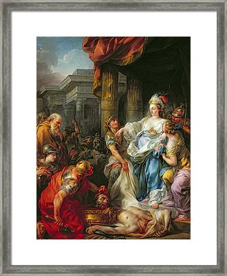 The Beheading Of Cyrus IIi Framed Print by Jean Simon Berthelemy