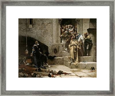 The Bell Of Huesca Framed Print by Jose Casado del Alisal