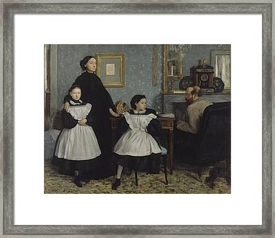 The Bellelli Family 1858 - 1869 Framed Print by Edgar Degas
