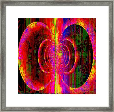 The Belly Of The Earth Trembles Framed Print by Fania Simon