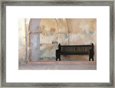 The Bench Framed Print by Michael Greenaway