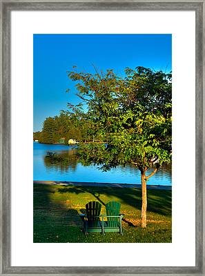 The Best Spot On Old Forge Pond Framed Print by David Patterson