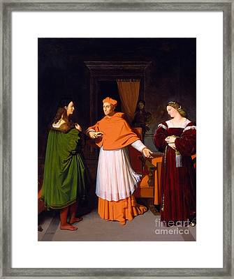 The Betrothal Of Raphael And The Niece Framed Print by Jean