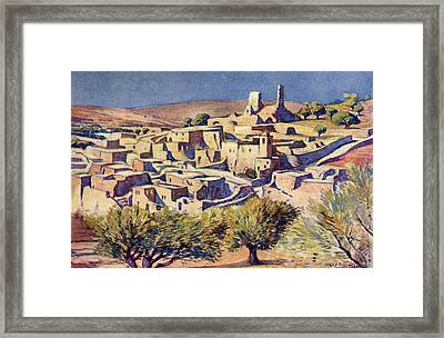 The Biblical Village Of Bethany, Near Framed Print by Vintage Design Pics