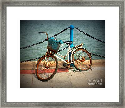 The Bicycle Framed Print by Carol Groenen