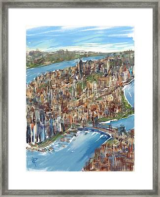 The Big Apple Framed Print by Russell Pierce