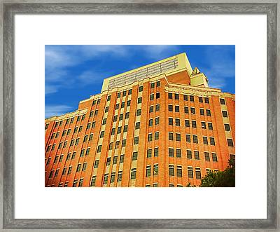 The Big Box Theory Framed Print by Wendy J St Christopher