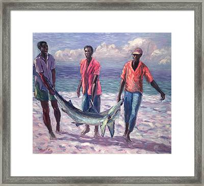 The Big Catch Framed Print by Carlton Murrell