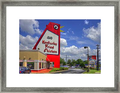 The Big Chicken Marietta Georgia Framed Print by Reid Callaway